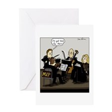 Cute String quartets Greeting Card