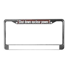 shut-down-nuclear-power-Bumper License Plate Frame