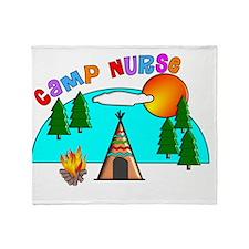 camp nurse 4 Throw Blanket