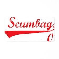 scumbagsred Aluminum License Plate