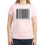 The Barcode of the Beast 666 Women's Pink T-Shirt