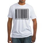 The Barcode of the Beast 666 Fitted T-Shirt