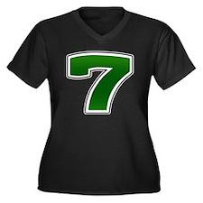 Seven copy Women's Plus Size Dark V-Neck T-Shirt