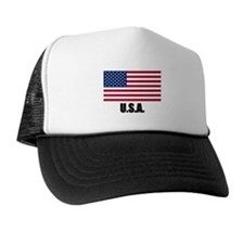 United States Flag T Shirts Trucker Hat