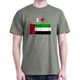 I love United Arab Emirates F T-Shirt