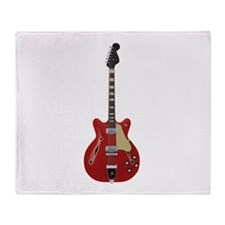 Hollow Body Electric Guitar Throw Blanket