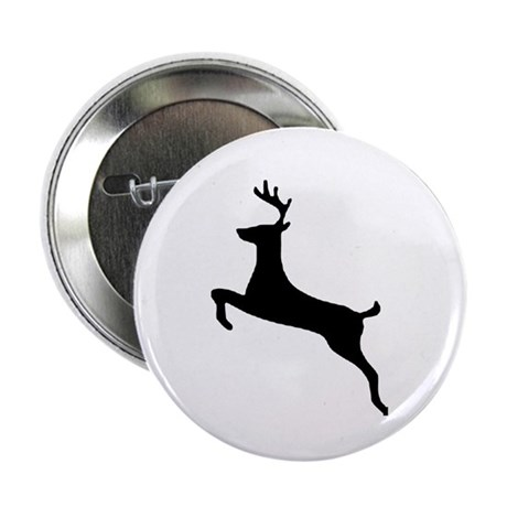 "Leaping Deer 2.25"" Button (100 pack)"