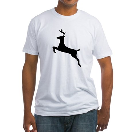 Leaping Deer Fitted T-Shirt