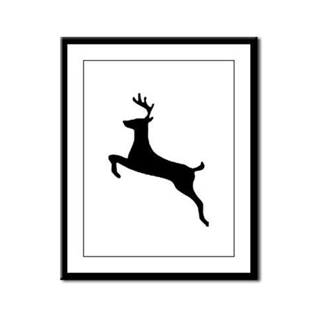 Leaping Deer Framed Panel Print