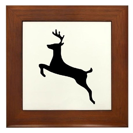 Leaping Deer Framed Tile