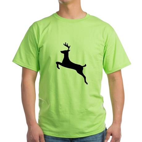 Leaping Deer Green T-Shirt