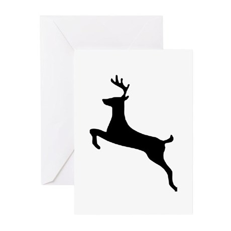Leaping Deer Greeting Cards (Pk of 10)