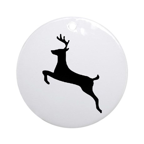 Leaping Deer Ornament (Round)