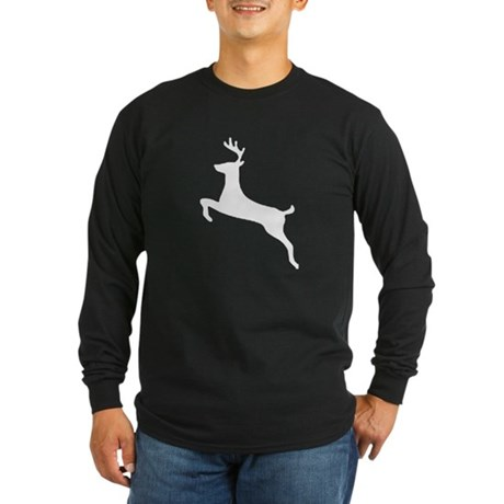 Leaping Deer Long Sleeve Dark T-Shirt