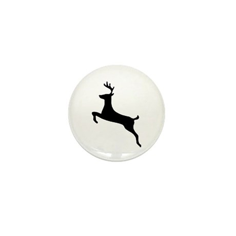 Leaping Deer Mini Button