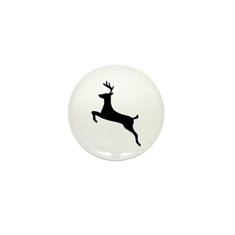 Leaping Deer Mini Button (10 pack)