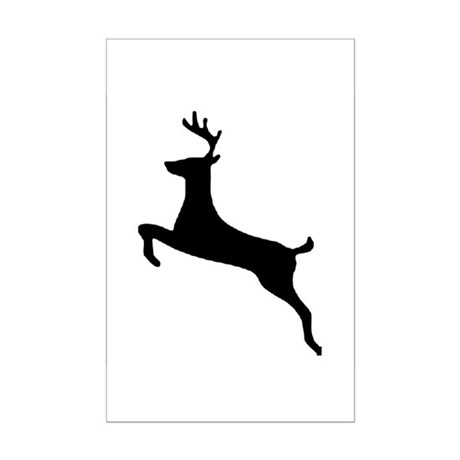 Leaping Deer Mini Poster Print