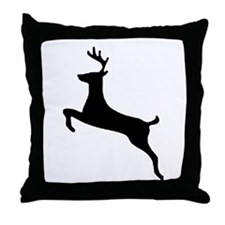 Leaping Deer Throw Pillow
