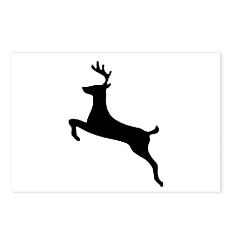 Leaping Deer Postcards (Package of 8)