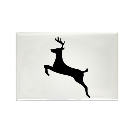 Leaping Deer Rectangle Magnet