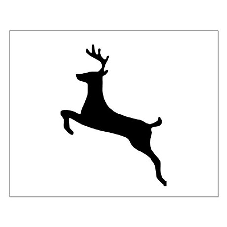 Leaping Deer Small Poster