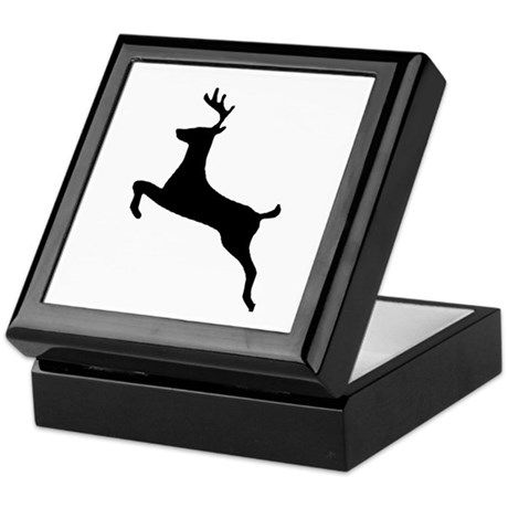 Leaping Deer Keepsake Box