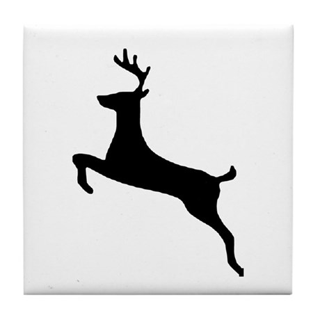 Leaping Deer Tile Coaster