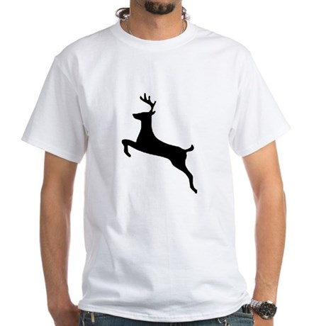 Leaping Deer White T-Shirt