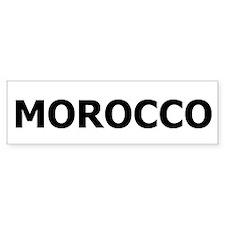 Morocco Bumper Bumper Sticker