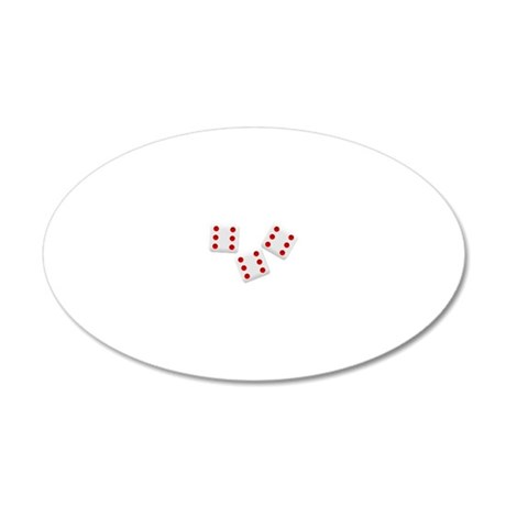 3D6 20x12 Oval Wall Decal
