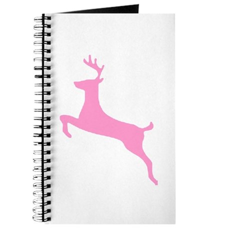 Pink Leaping Deer Journal