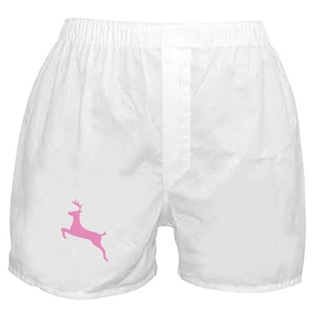 Pink Leaping Deer Boxer Shorts