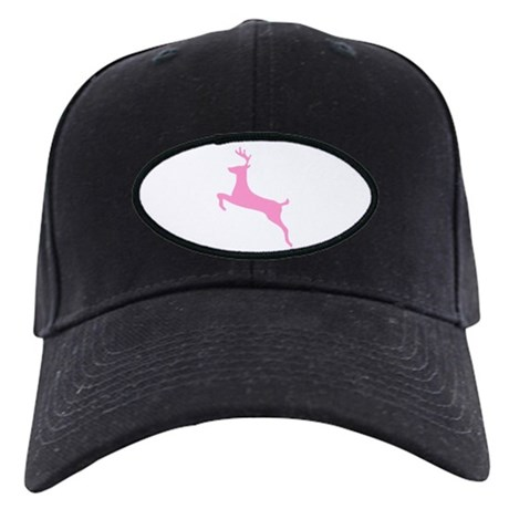 Pink Leaping Deer Black Cap