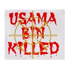 usama bin killed Throw Blanket