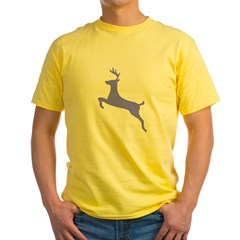 Purple Leaping Deer Yellow T-Shirt