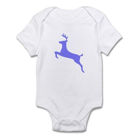 Purple Leaping Deer Infant Bodysuit