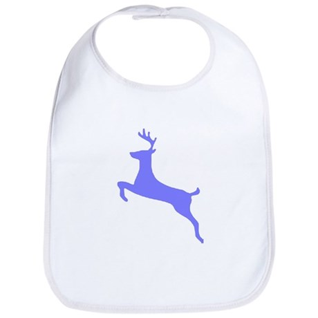 Purple Leaping Deer Bib