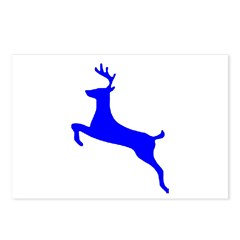 Blue Leaping Deer Postcards (Package of 8)