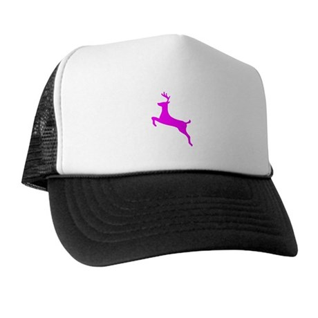 Hot Pink Leaping Deer Trucker Hat