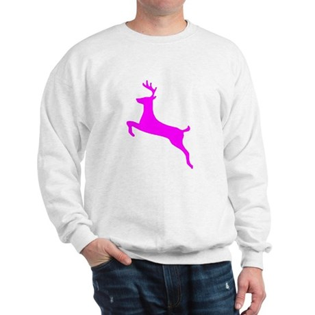 Hot Pink Leaping Deer Sweatshirt