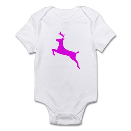 Hot Pink Leaping Deer Infant Bodysuit