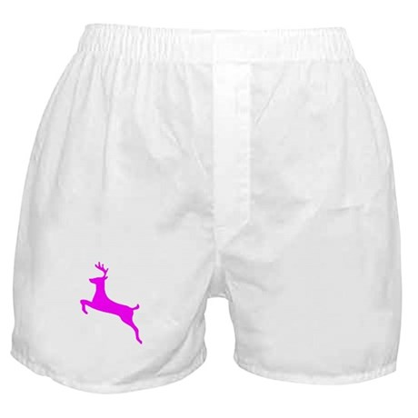 Hot Pink Leaping Deer Boxer Shorts