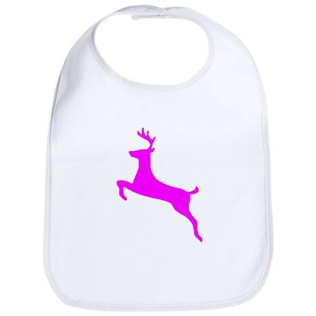 Hot Pink Leaping Deer Bib