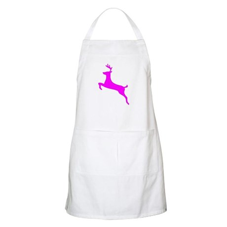 Hot Pink Leaping Deer BBQ Apron