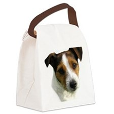 Jack Russell Terrier Watercolor Canvas Lunch Bag