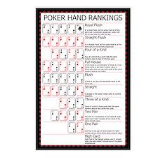Poker Ranks Postcards (Package of 8)