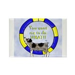 Silly Aussie Agility Rectangle Magnet (100 pack)