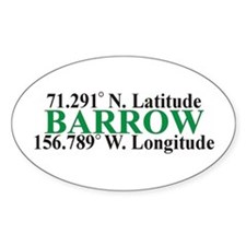 Barrow Lat-Long Oval Decal