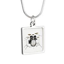 Drum Kit: Black Finish Necklaces