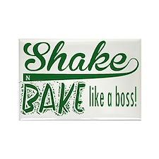 ShakenBake:like a boss Rectangle Magnet